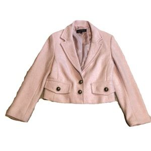 Nanette Lepore Light Pink Boucle Blazer